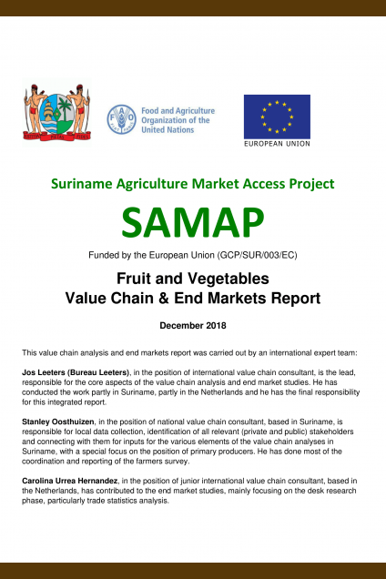 Suriname Agriculture Market Access Project
